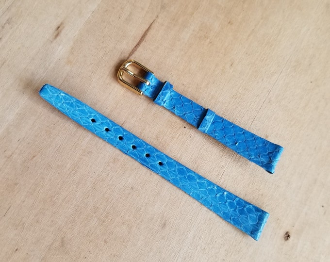 Blue Leather Watch Strap - 12