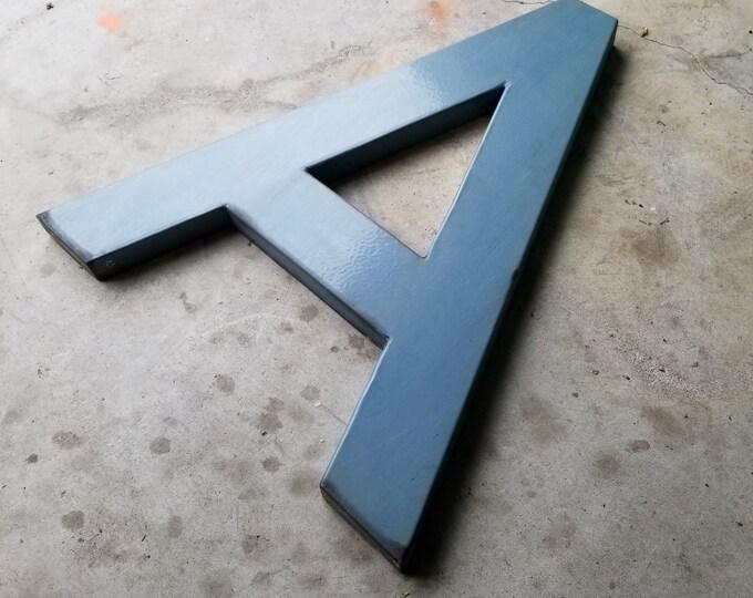 Giant Enameled Metal Signage Letter A