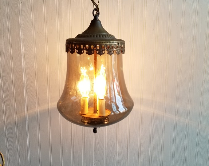 Glass Pendulum Swag Lamp