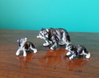 Porcelain Bear Family Figurines