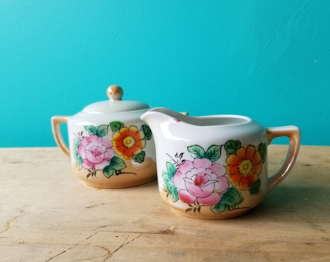 Vintage Cream and Sugar Set - Made in Japan