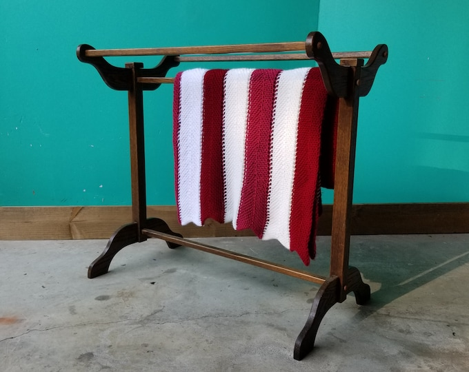 Oak Blanket Rack