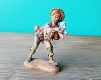 Vintage Fontanini Figurine - 129 B  Village Boy with Lamb