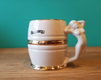 Vintage Wales Souvenir - Naked Lady Ceramic Mug