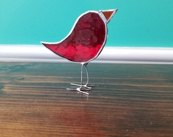 Stained Glass Bird - Made in Toronto by Maggie Groves