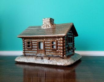 Log Cabin Ceramic Lamp