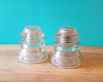 Pair Of Glass Insulators