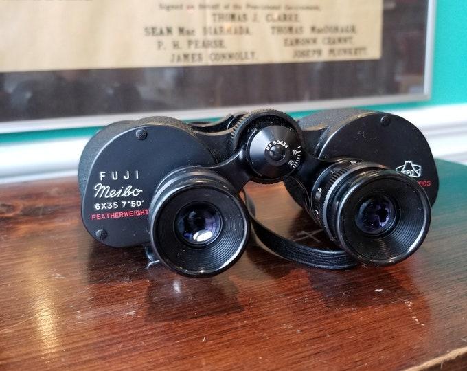 Fuji Meibo 6x35 Featherweight - Vintage Birding Binoculars With Case