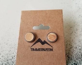 Handcrafted Wooden Earrings - Timmerwerk