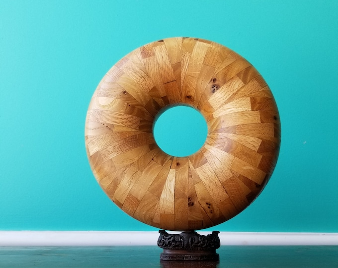 Unique Handcrafted Wooden Torus Objet'd Art - Doug McKay Woodworking