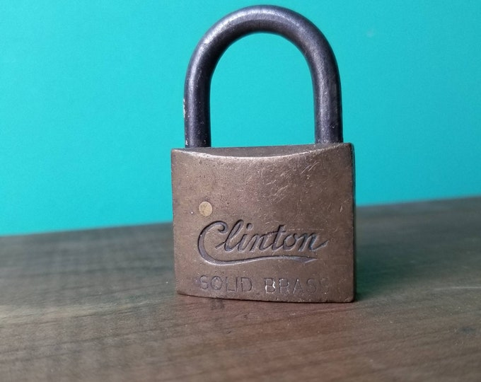 Solid Brass Padlock - Clinton - Made in USA