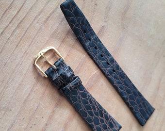 Brown Faux Alligator Watch Strap - 18