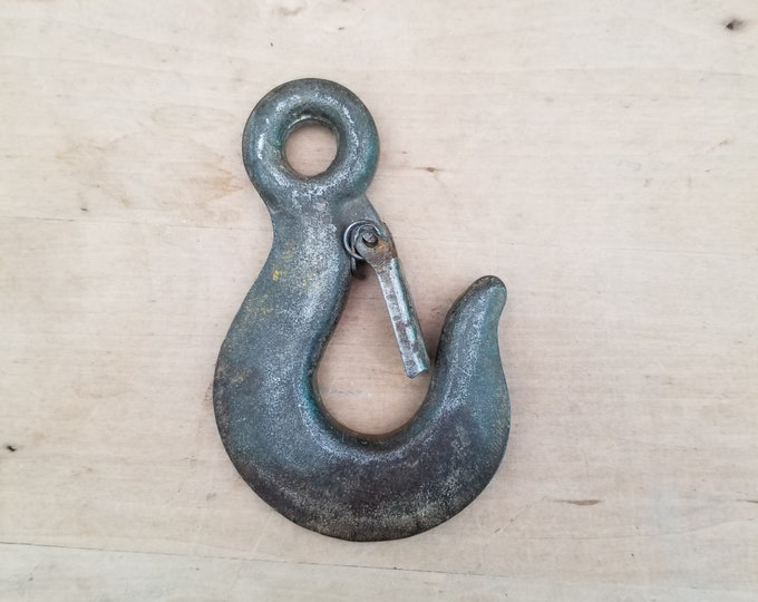 Cast Iron Eye Hoist Hook with Latch