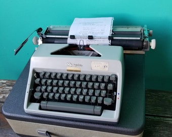 Olympia Typewriter With Beautiful Font