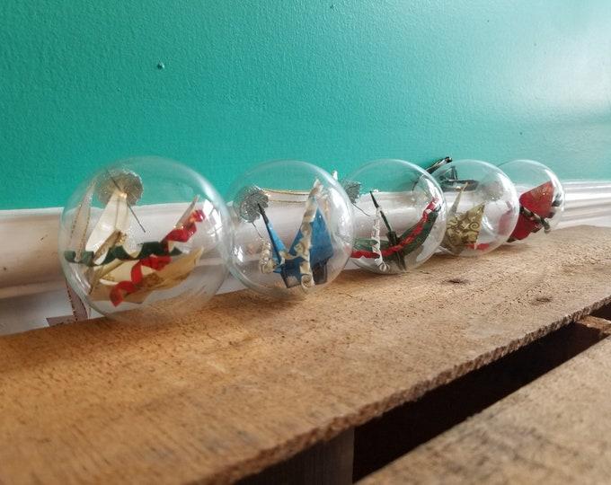Origami Crane Christmas Ornament - Handmade in Toronto