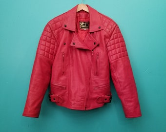 1970s Skin Genuine Leather Red