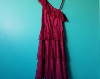 Deep Pink Lace Dress