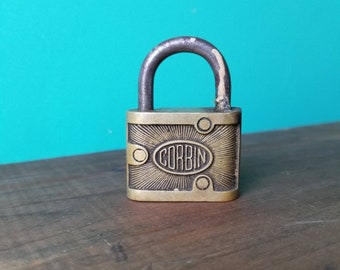 Solid Brass Padlock - Corbin - Made in Canada