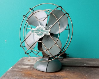 1960's Sea Breeze Metal Fan - Made in Toronto