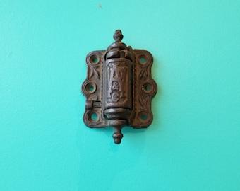 Antique  Eastlake Victorian Cast Iron Spring Loaded Hinge