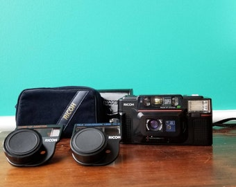 Ricoh FF-3 AF - Point and Shoot With All Accessories
