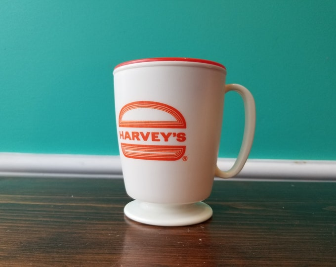 Rare Vintage Harvey's Restaurant Travel Mug