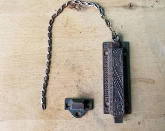 Victorian Salvaged Hardware - Spring Loaded Pull Latch