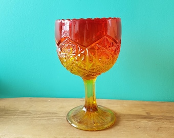 Pressed Glass Giant Goblet