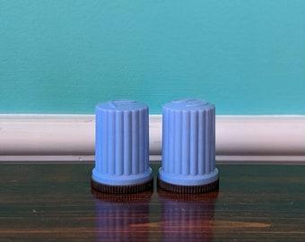 Vintage Cerulean Blue Salt and Pepper Shaker Set