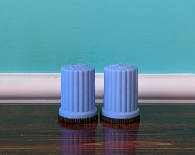 Vintage Cerulean Blue Salt and Pepper Shaker Set
