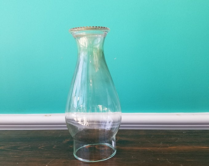 Vintage Glass Lamp Chimney