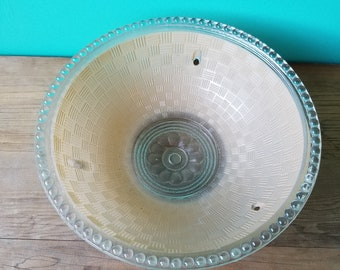 1920's Pressed Glass Suspended Lampshade
