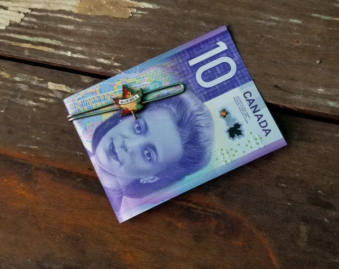 Quebec Maple Leaf Money Clip