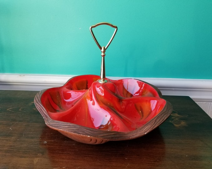 Treasure Craft Pottery - Drip Glaze Serving Dish