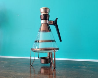 MCM Glass Tea/Coffee Pot - With Stand