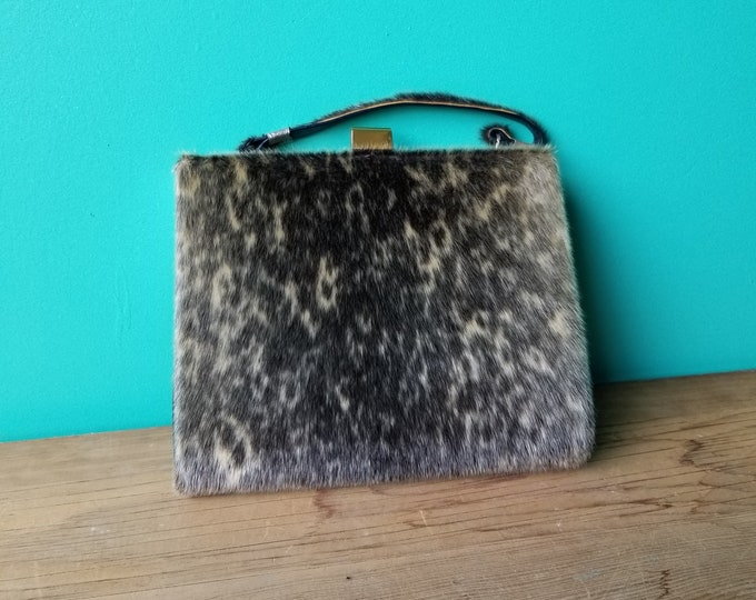 1950s Genuine Seal Skin Handbag
