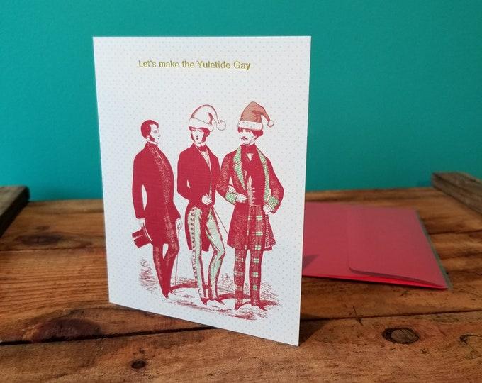 Lets Make The Yuletide Gay - Smitten Kitten Christmas Card