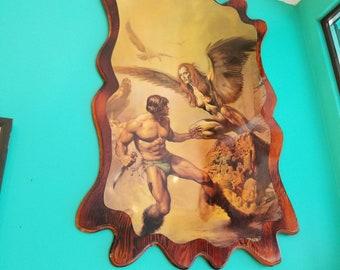 Boris Vallejo Fantasy Art Print Mounted on Wood