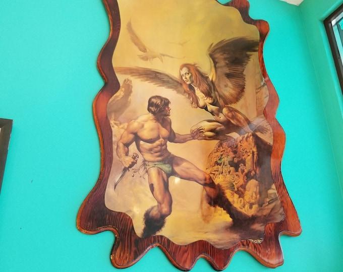 Featured listing image: Boris Vallejo Fantasy Art Print Mounted on Wood