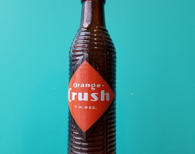 1940's Vintage Orange Crush Glass Bottle