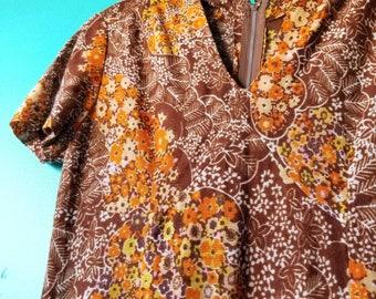 1960's Floral Hippie Dress