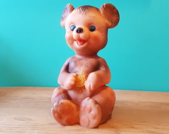 1950s Edward Mobley Rubber Bear Toy