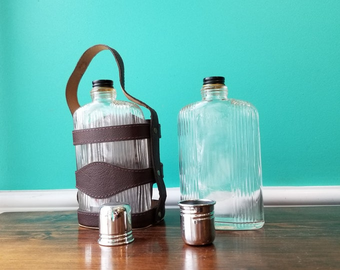 Vintage Double Flask with Carry Strap