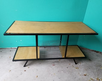 Midcentury Modern Stereo Table with Record Storage - Local Pickup Only