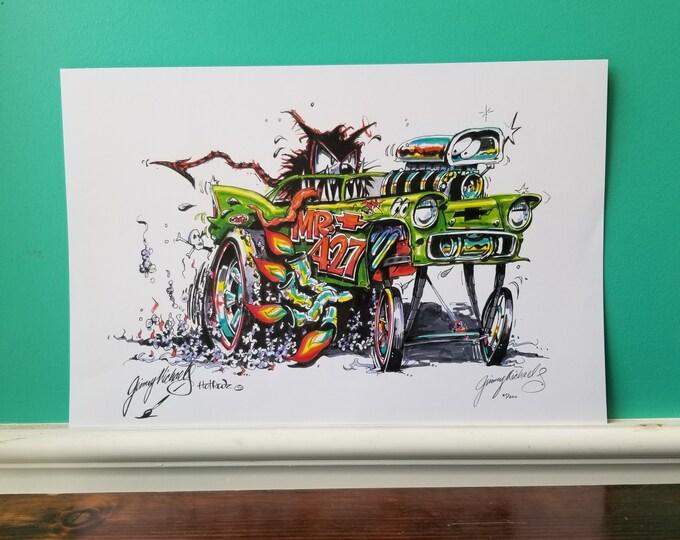 Jimmy Michaels Original - 55 Chevy Hot Rod Art - Print