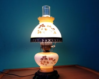 Milkglass Double Globe Two Way Lamp