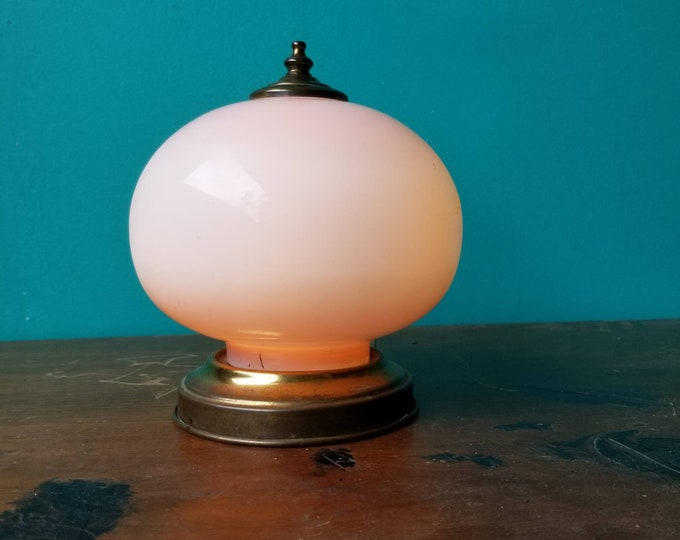 Featured listing image: Vintage Peachy Orb Lamp