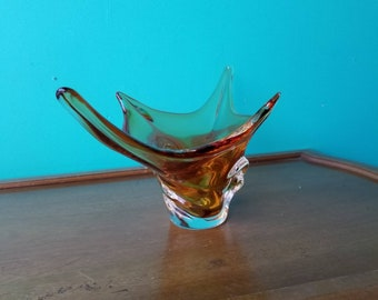 Harvest Gold Chalet Art Glass