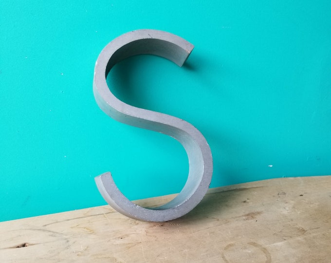 Salvaged Metal Signage Letter S