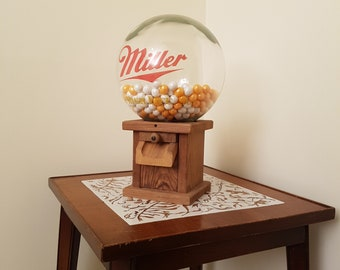 Miller Glass Top Wood Gumball Machine